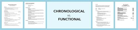 Chronological Resume Versus A Functional Resume by Chronological Resume Definition Format Layout 103