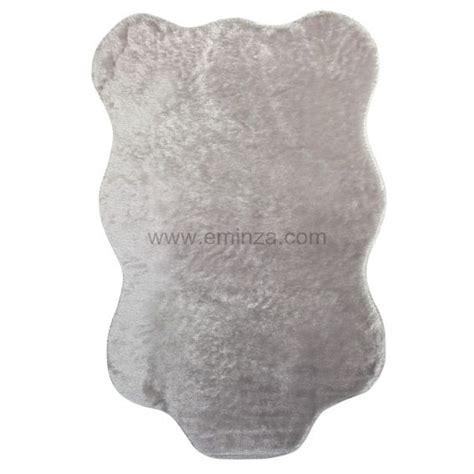tapis peau de b 234 te peluche gris clair tapis peau de b 234 te eminza