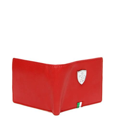From autumn to spring long pants are recommended and for summer you can buy ferrari shorts. Puma Mens Red Ferrari Wallet: Buy Online at Low Price in India - Snapdeal
