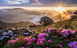 Mountain Sunrise Beautiful Landscape Wallpaper - Good ...