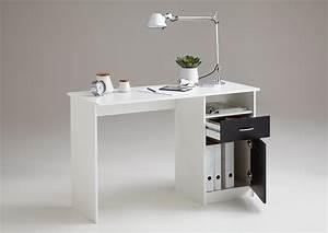 Schreibtisch Weiß Schwarz : jackson schreibtisch von fmd wei schwarz ~ Buech-reservation.com Haus und Dekorationen