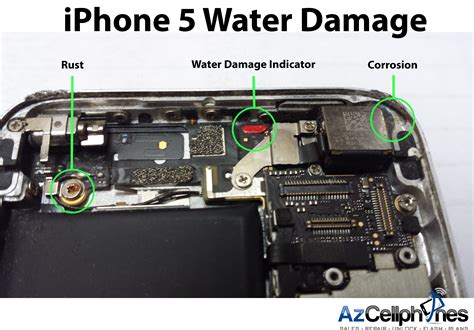 iphone 5s water damage indicator before after azcellphones