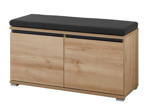 caisson armoire de cuisine meuble à chaussures banc 8 paires en bois l96cm lissabon