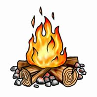 Image result for clip art of a campfire