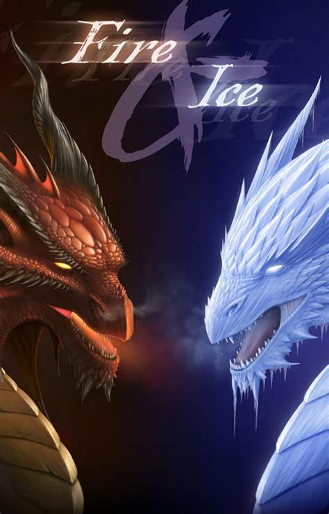 fire ice dragons hd wallpaper