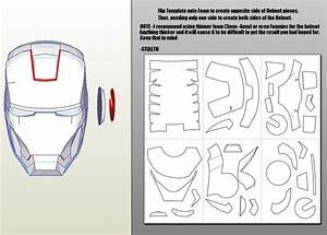 iron man mark 4 6 pepakura foam templates video tutorial With iron man helmet template download