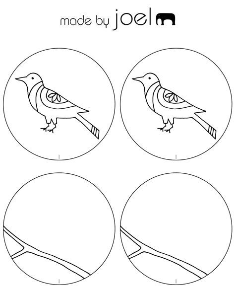 Thaumatrope Template Bird Cage by Http Madebyjoel Wp Content Uploads 2011 01 Made By