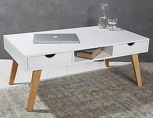 Couchtisch Skandinavischer Stil : couchtisch mit 2 schubladen holz wei beistelltisch retro ~ Michelbontemps.com Haus und Dekorationen
