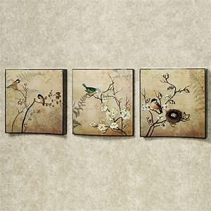 natures kiss birds wall art set With wall art set