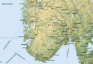 kaart van zuid noorwegen