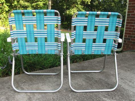 webbed lawn chairs folding aluminum 2 sunbeam webbed aluminum folding lawn chairs patio