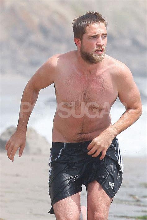 Robert Pattinson went shirtless with a beard.   Robert ...