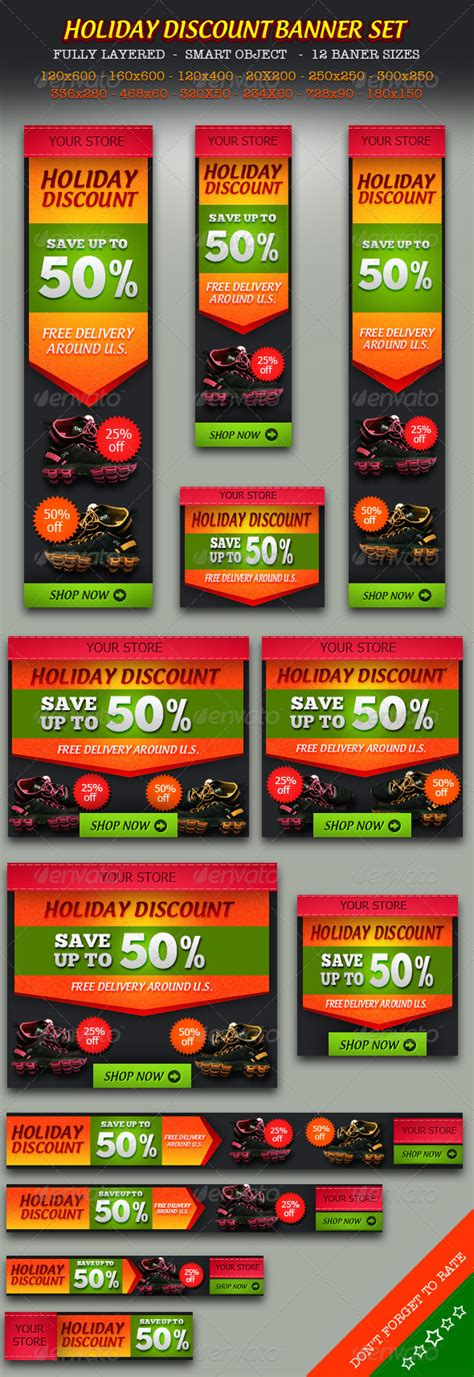 Holiday Discount Online Store Banner Ad Set  Graphicriver. Culinary School In Ohio Unveristy Of Maryland. Best Diy Wireless Home Security System. Nurse Practitioner Accelerated Programs. Murtech Infrastructure Services. The Square Credit Card Reader Reviews. Rental Car Business Model Data Mining Systems. Client First Settlement Funding. Best Checking Accounts In Texas