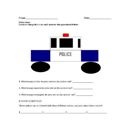police officer lesson plans for preschool activities for a officer lesson plan 865