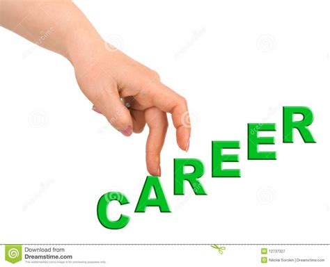 Hand And Stairs Career Stock Image. Image Of Human