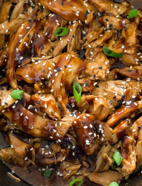 cooked chicken recipes sesame chicken slow cooker