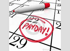Payday Word Circled Calendar Income Wages Date Royalty