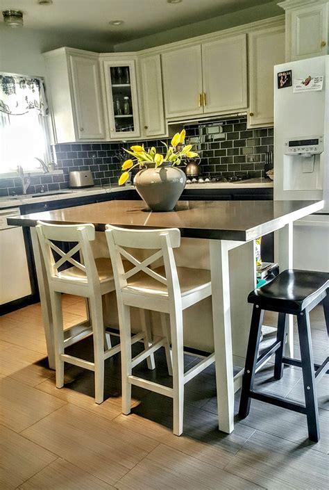 ikea stenstorp kitchen island hack  added grey