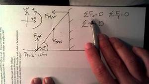 Ladder In Equilibrium Force And Torque  Part 1