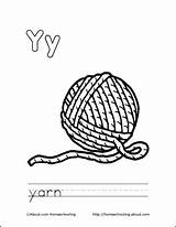Coloring Yarn Pages Ball Letter Printable Colouring Books Sheets Cat Drawing Letters Homeschooling sketch template
