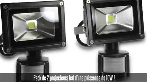 projecteur led avec détecteur de mouvement pack de 2 projecteurs led 10w avec d 233 tecteur de mouvement blanc froid