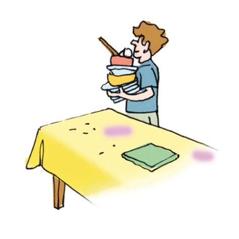 clear the table clipart household chores 1 cglearn it