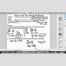 Topic 7 Word Problems (sales And Tax) Youtube