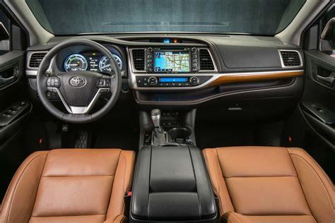 toyota highlander hybrid limited platinum interior