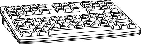 Coloring Keyboard by Computer Coloring Book Clipart Best
