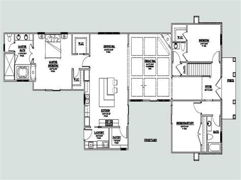 homes floor plans u shaped one house u shaped house plan with
