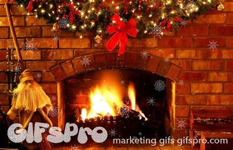 Animated Yule Log Wallpaper - gifs of fireplace gifspro