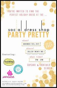 Cocktail Invites Hey Ladies One Day Only Holiday Dress Pop Up Shop At