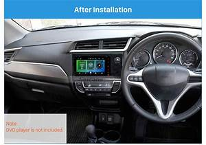 Double Din Uv Black Car Stereo Fascia Mount Kit Install