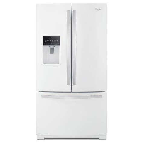 white door refrigerator whirlpool 36 in w 27 cu ft door refrigerator in