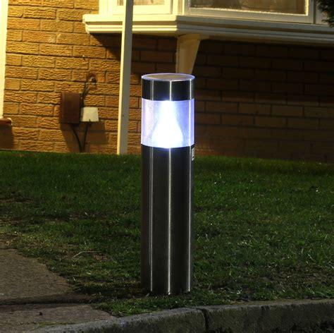 Stainless Steel Driveway Post Lights Solar Powered Garden