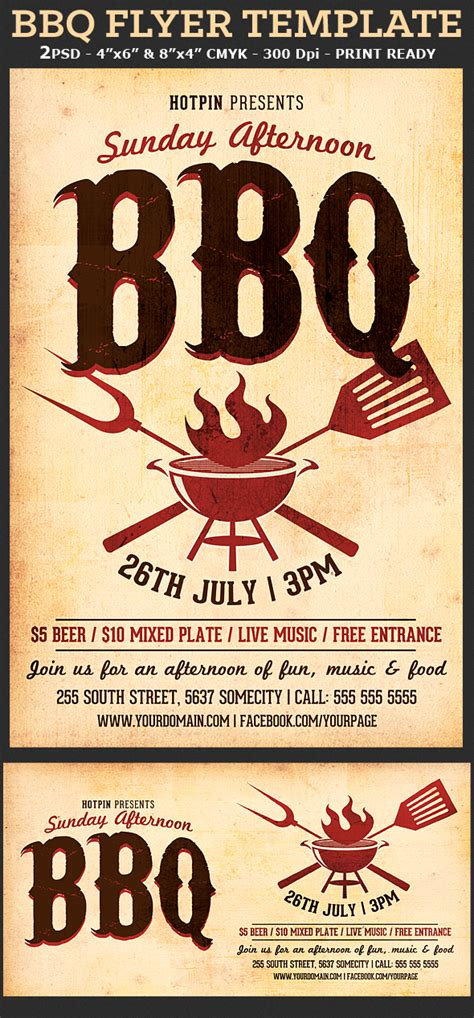 barbecue bbq flyer template flyerstemplates