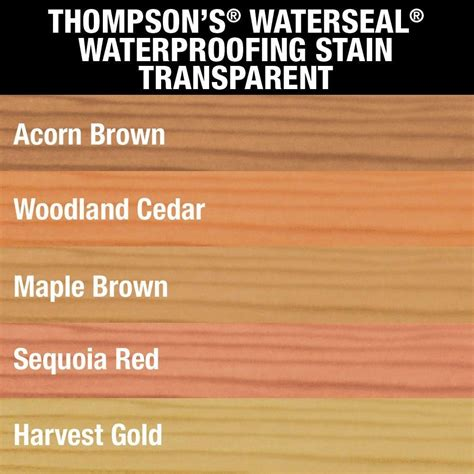 thompsons waterseal  gal transparent acorn brown