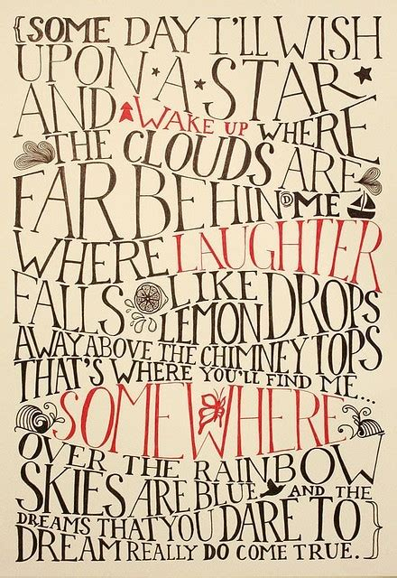 lyrics over the rainbow poster song typography image 204022 on favim com
