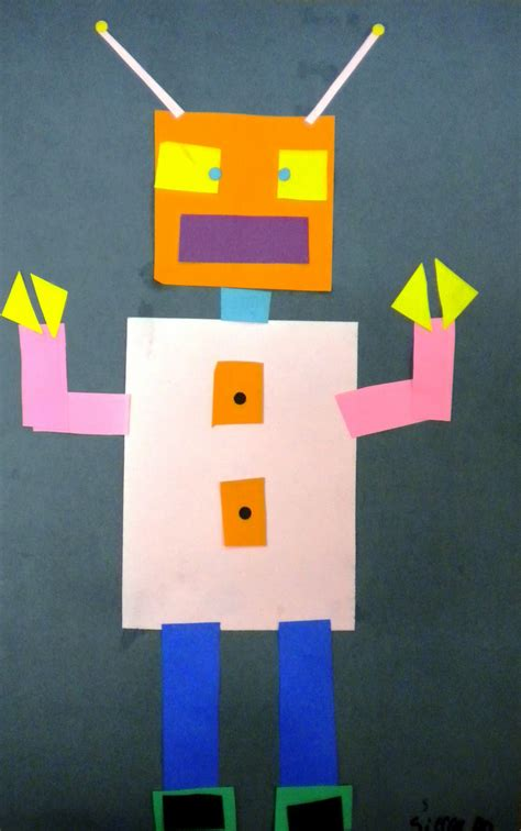 Geometric Shape Robots Kindergartenfirst Grade  School  Pinterest  Grade 1, Math And