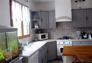 Cuisine Repeinte En Blanc : peindre meuble rustique en gris im19 jornalagora ~ Melissatoandfro.com Idées de Décoration