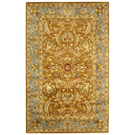5 8 Area Rugs by Safavieh Heritage Brown Blue 5 Ft X 8 Ft Area Rug Hg812a