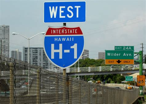 hawaii highway interstate signs aaroads highways hawai h1 thinking these