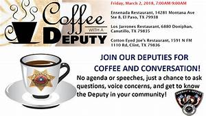 El Paso County TX : SHERIFF'S OFFICE HOSTS COFFEE WITH A ...