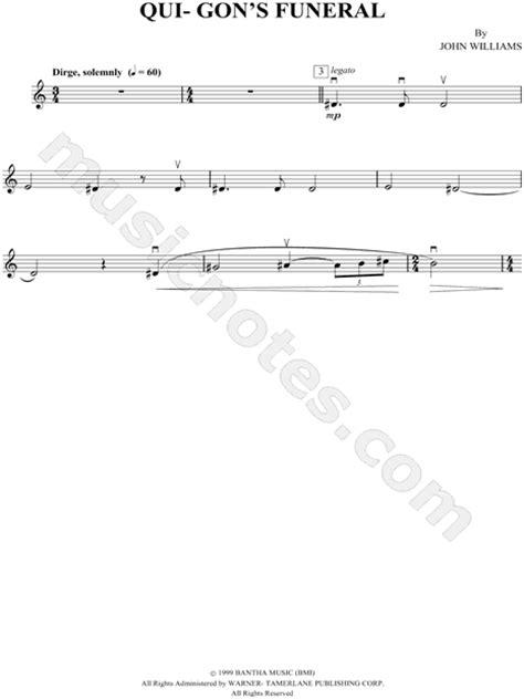 "See more ideas about sheet music, violin music, violin sheet music. ""Qui-Gon's Funeral - Violin"" from 'Star Wars Episode I: The Phantom Menace' Sheet Music (Violin ..."