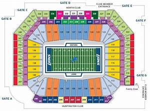 Detroit Pistons Seating Chart With Seat Numbers Ford Field Seating Chart Detroit Lions In Play Magazine