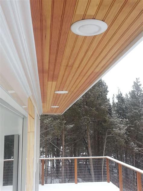 led exterior soffit lighting   installed