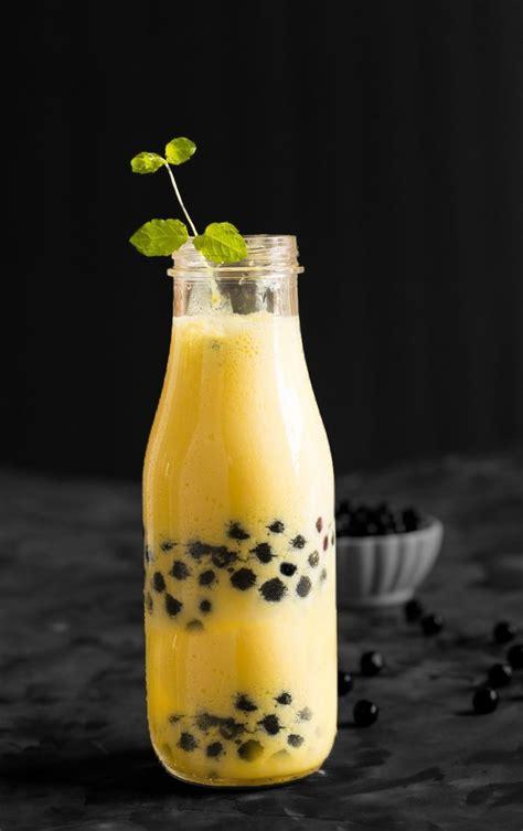 Mango boba smoothie recipe is made with fresh mango