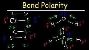 Bond Polarity  Electronegativity And Dipole Moment