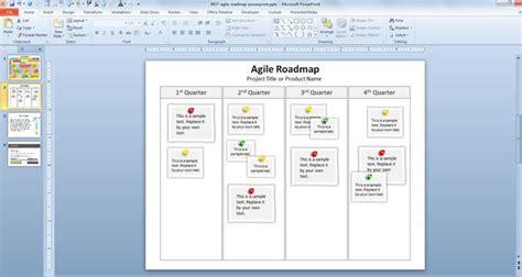 agile roadmap powerpoint template