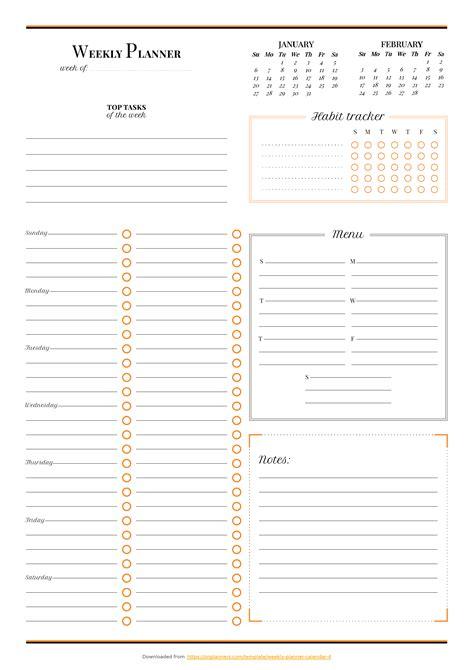 weekly planner  habit tracker  images weekly